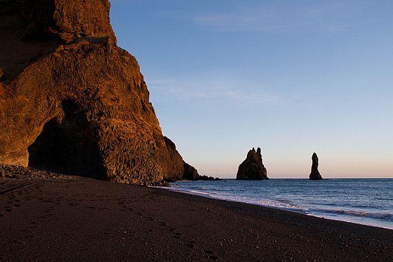 Пляж Вик Бич в Исландии