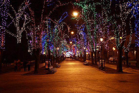 Приморский бульвар вечером