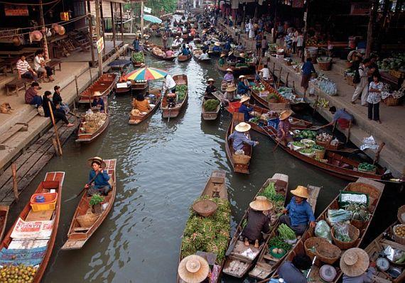 Рынок в Тайланде – шоппинг на воде