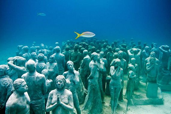 Музей подводных скульптур в Канкуне