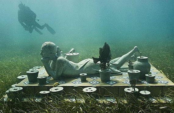 музей подводных скульптур канкун мексика