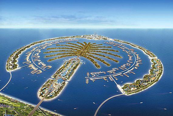 Остров пальма в Дубае