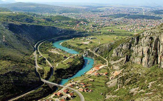 Река Морача в Подгорице