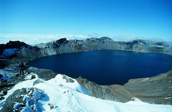 Гора Пэктусан, Небесное озеро. Северная Корея