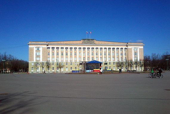 Софийская площадь в Новгороде