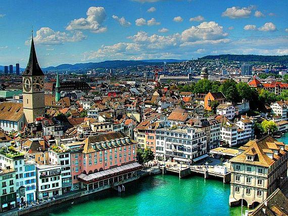 Город Цюрих Швейцария