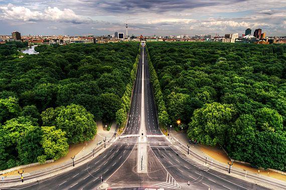 Парк Тиргартен в Берлине
