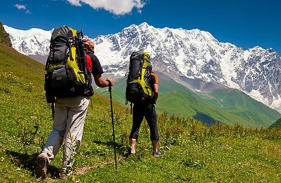 Походы по тропам в горах Грузии
