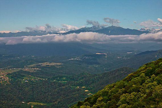 Вид с горы Ахун в Сочи