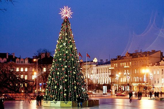 Рождество в Литве Вильнюс