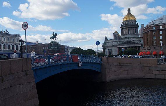 Синий мост реки Мойка
