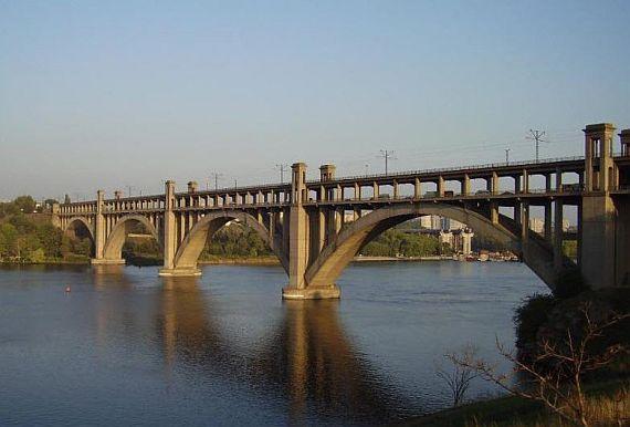 Мост Преображенского в Запорожье
