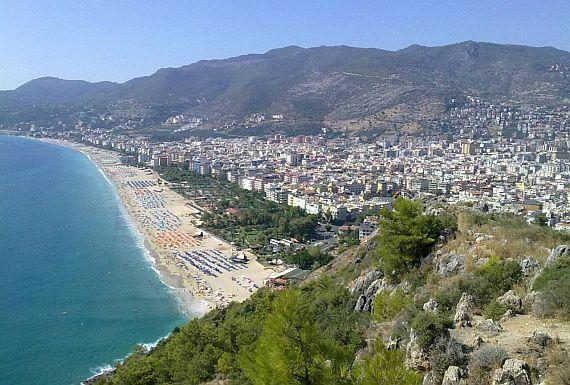 Пляж Клеопатры в Турции