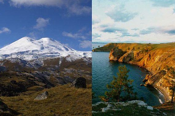 Отдых в России. Байкал и Эльбрус