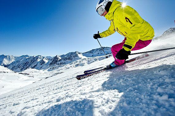 Горные лыжи учимся кататься