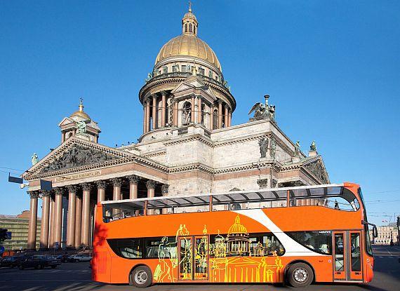 Автобусные поездки по достопримечательностям Петербурга