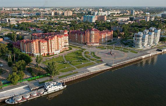 Прогулка по Астрахани. Лебединое озеро и Центральная набережная