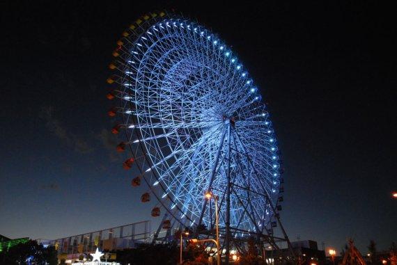 Осака. Колесо обозрения